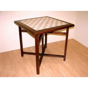 Mesa madera y tapa de ceramica tipo mosaico